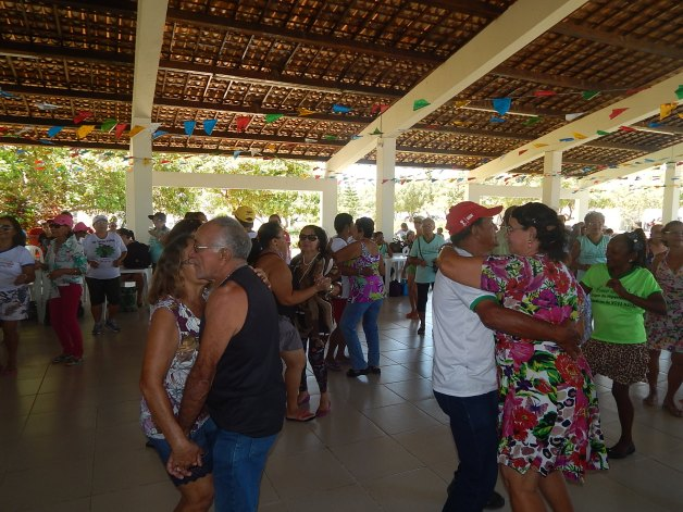 Festa em comemoração ao Dia do Idoso, na Área de Lazer do SINSENAT