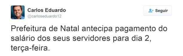 Tweet Carlos Eduardo