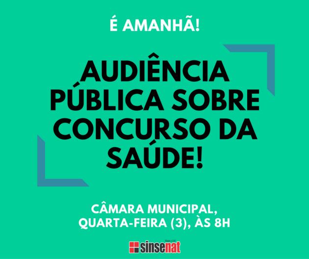 É AMANHÃ!audiência pública sobre concurso da saúde! (2)