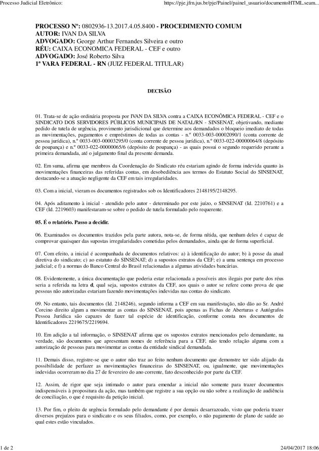 Decisão judicial 1