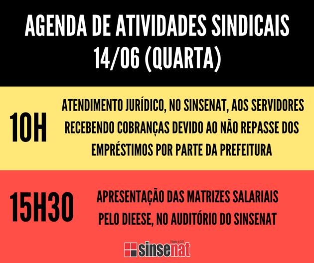 AGENDA DE ATIVIDADES SINDICAIS