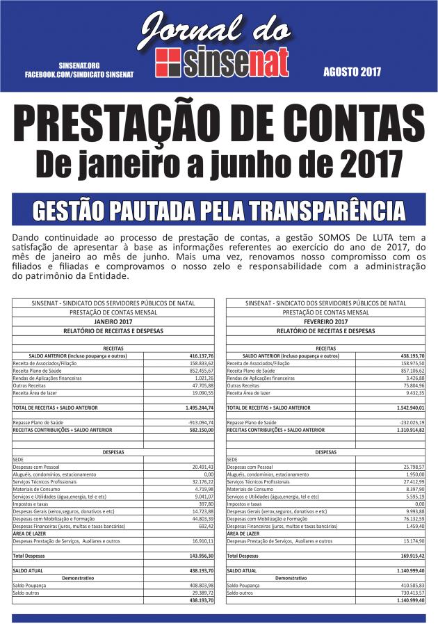 Jornal Prestação de Contas 2017-1