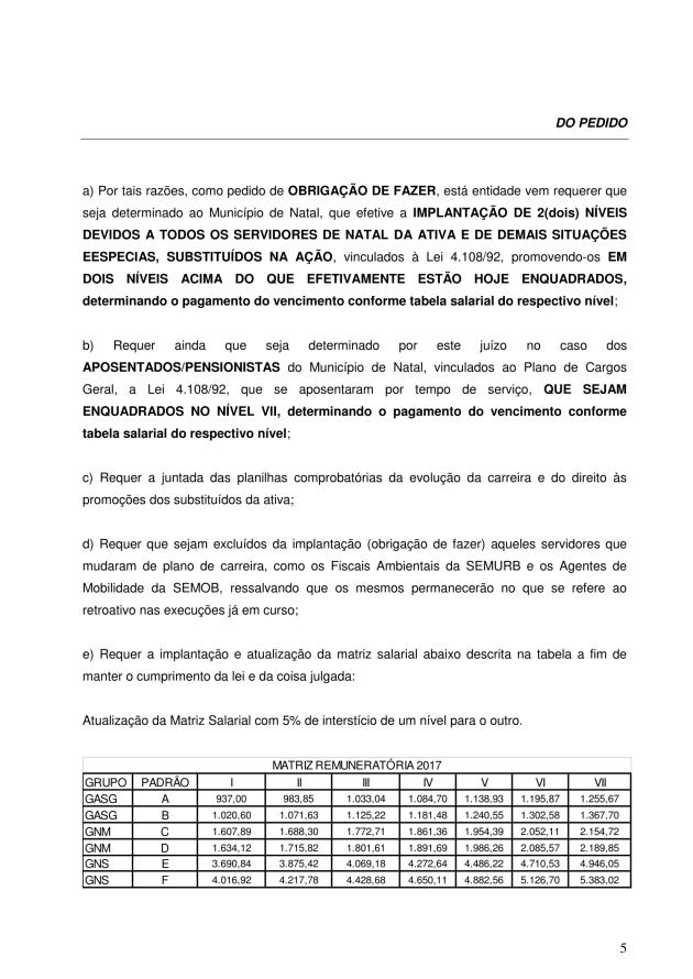 000 - pedido de execução contra o município - pedido de obrigação de fazer EXECUÇÃO PROVISORIA 2017-5