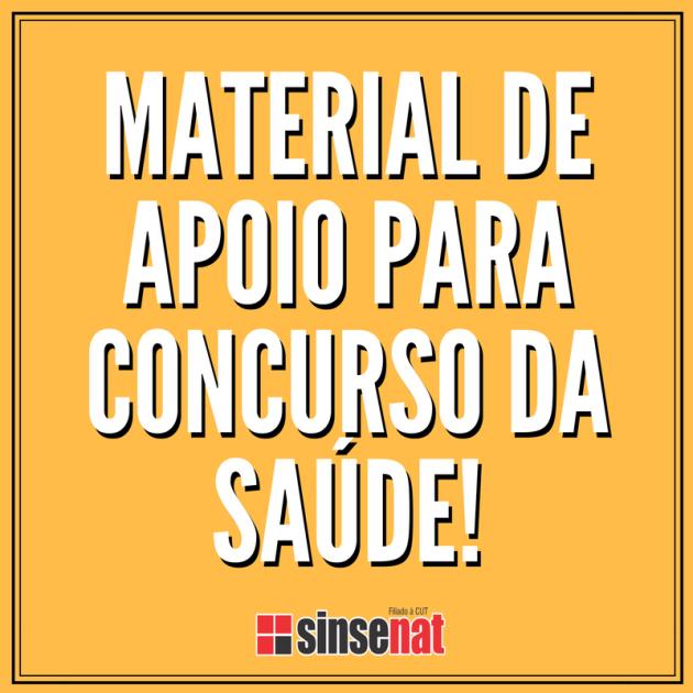 MATERIAL DE APOIO PARA CONCURSO DA SAÚDE!