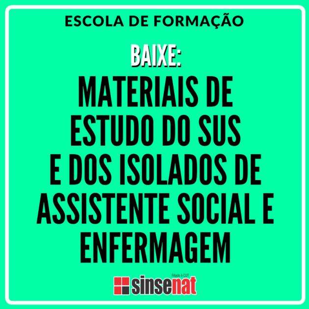 ACESSE MATERIAL DE ESTUDO DO ISOLADO DE ASSISTENTE SOCIAL